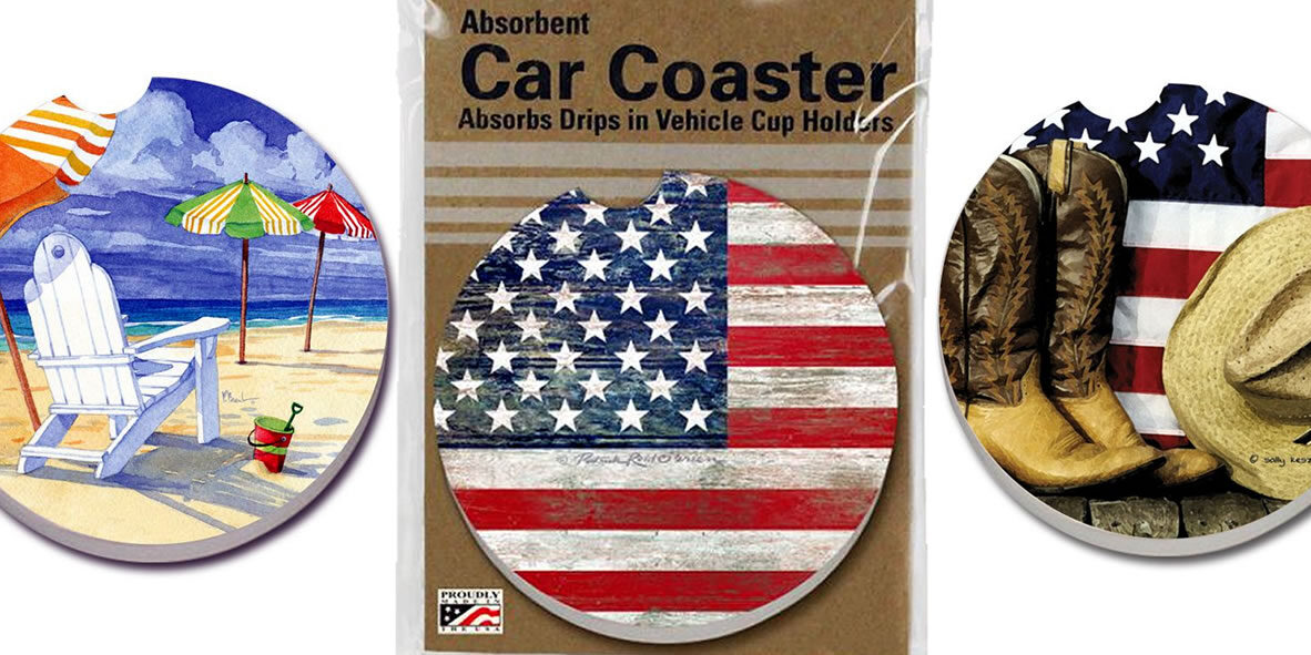 Absorbent car coaster